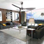 Ventilateur de plafond Reiga installé dans une maison