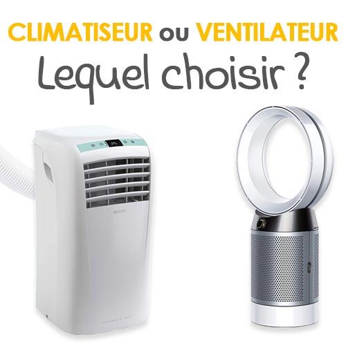 Que choisir entre climatiseur et ventilateur ?