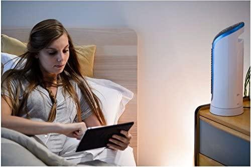 Utilisation du ventilateur compact Eole de Rowenta à proximité du lit
