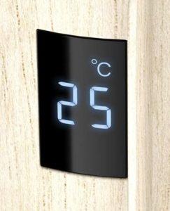 Ecran qui indique la température de la pièce intégré dans le ventilateur colonne Rowenta Urban Cool VU6770F0