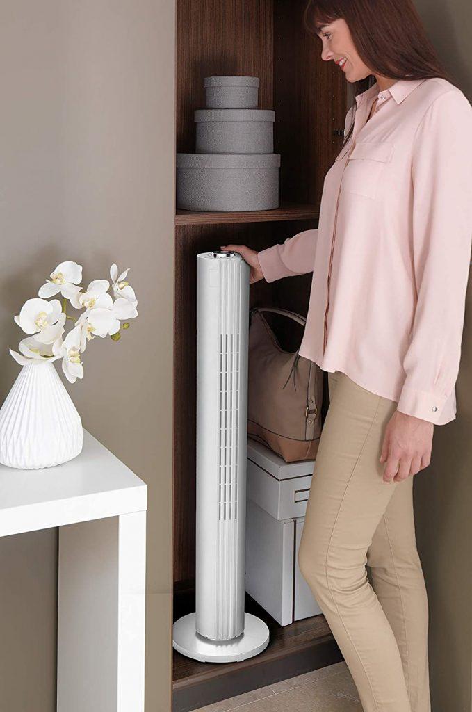 Facilité de rangement du ventilateur Colonne Rowenta Urban Cool